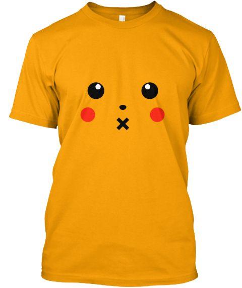 Pikapi Tees Gold T-Shirt Front