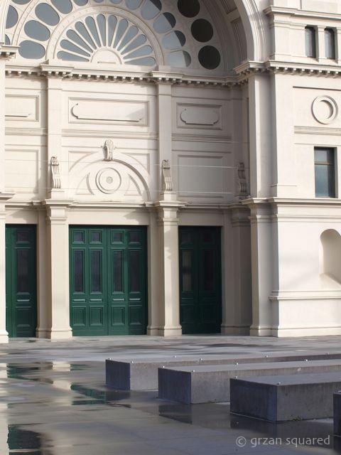 exhibition building.