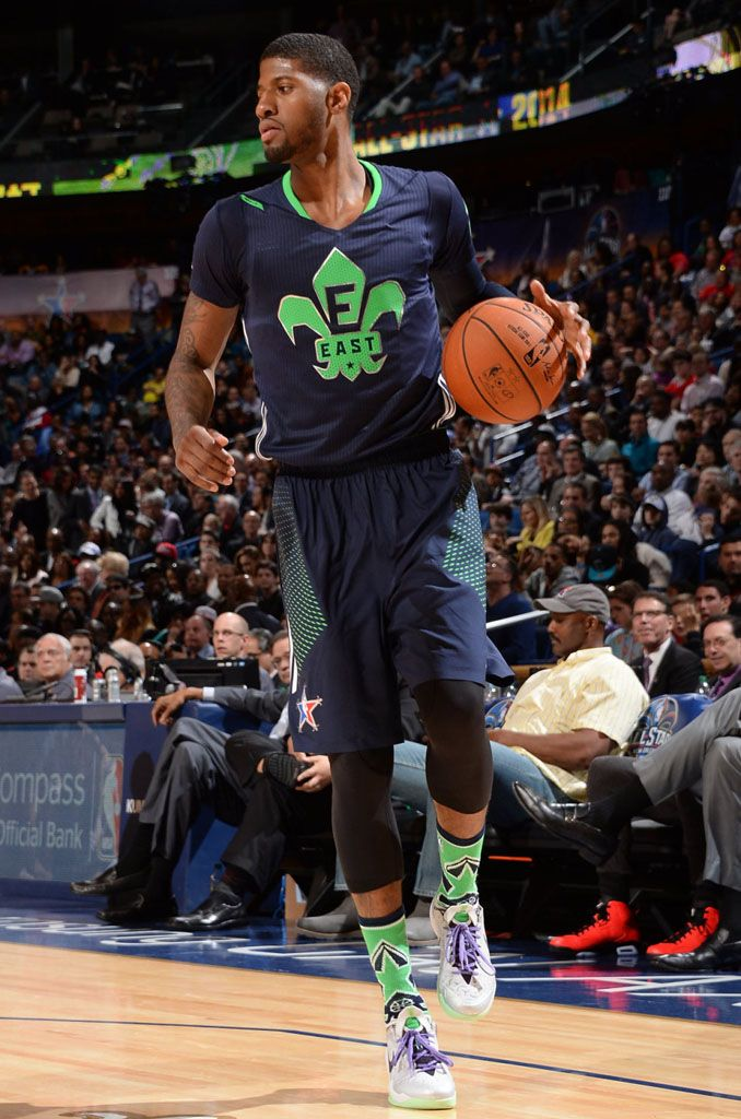 paul george wearing nike zoom crusader pe iconic sports