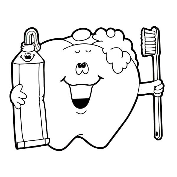 Free Dental Coloring Books Pusat Hobi In 2020 Tooth Cartoon