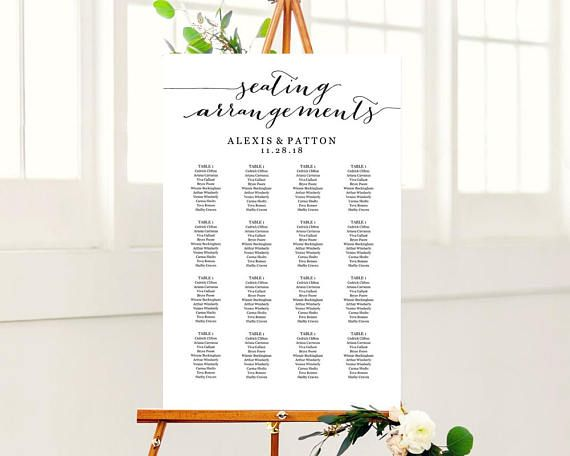 147 best Seating Chart Templates images on Pinterest Marriage - seating chart templates