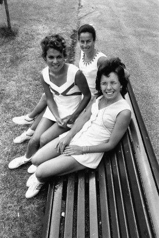 Billie Jean King, Yvonne Goolagong et Virginia Wade 1973
