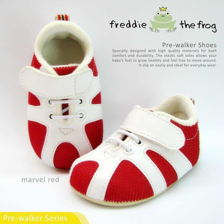 #Sepatu freddie the frog (Marvel red) ~ 90ribu. Ukuran Sol : No. 3 = 11 cm (untuk umur sekitar 0-6 bulan-) No. 4 = 11.5 cm (Sekitar 6-9bulan-) No. 5 = 12 cm (Sekitar 9bln-1 tahun-)