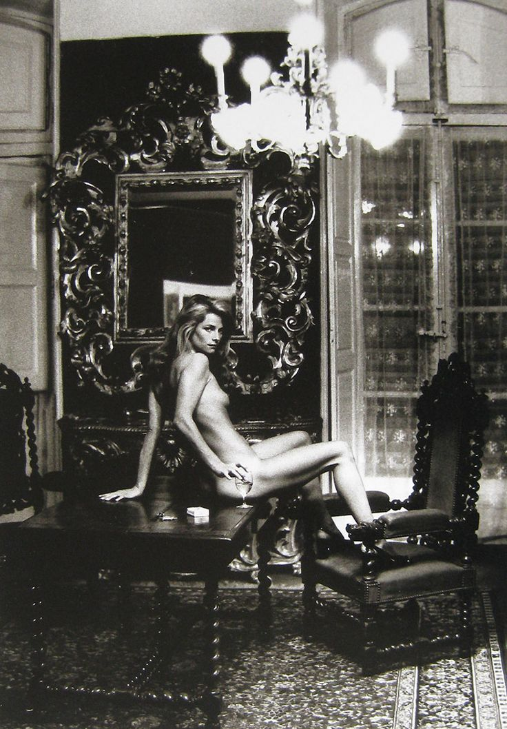 Charlotte Rampling at the Hotel Nord Pinus II, Arles by Helmut Newton.