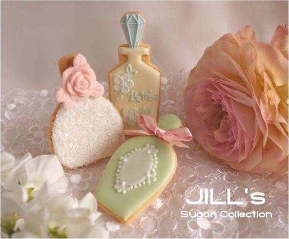PERFUME Bottle Cookie // Jill's Sugar Collection