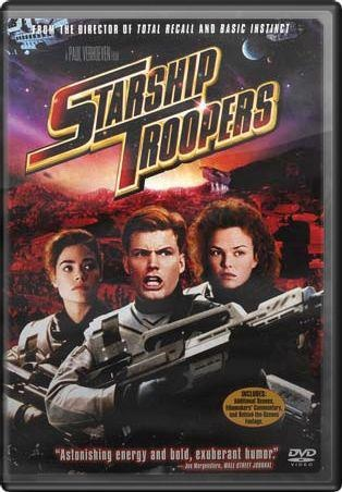 2/25/14 9:05a Starship Troopers (1997) - Much of the audience took this as a straight sci-fi action film, with top-notch effects and a cast that was infinitely easy on the eyes. I like it as a satire and commentary on a future-Earth, its citizens living happily and comfortably in a fascistic society.