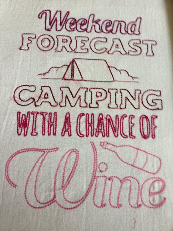 Camping Wine Cup Flour Sack Towel Funny Tea Cup Kitchen