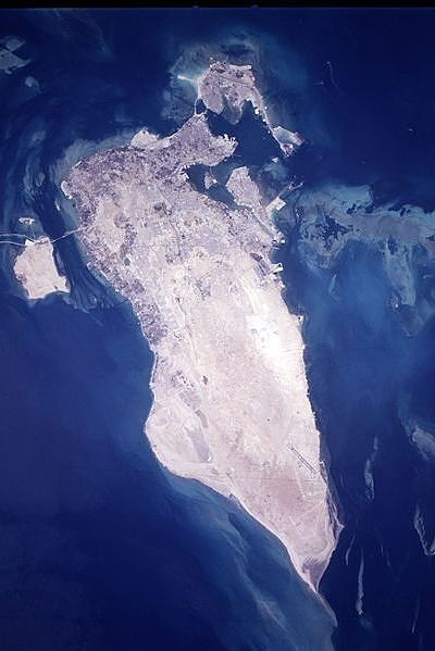 Bahrain from space