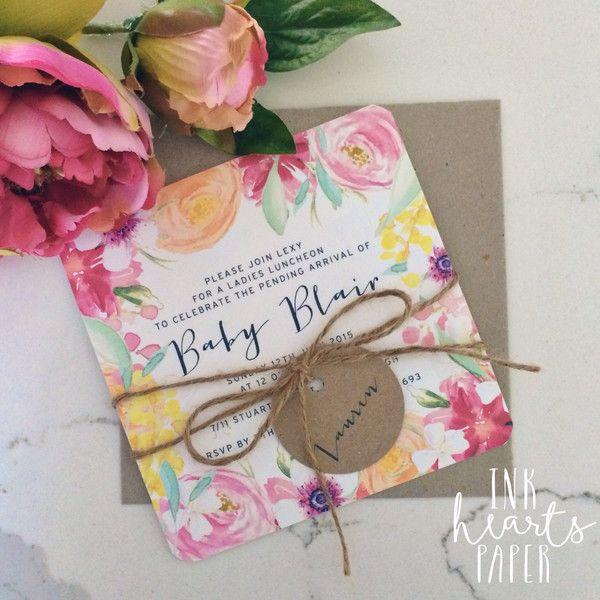 Birthday & Baby Shower Invitations - Ink Hearts Paper