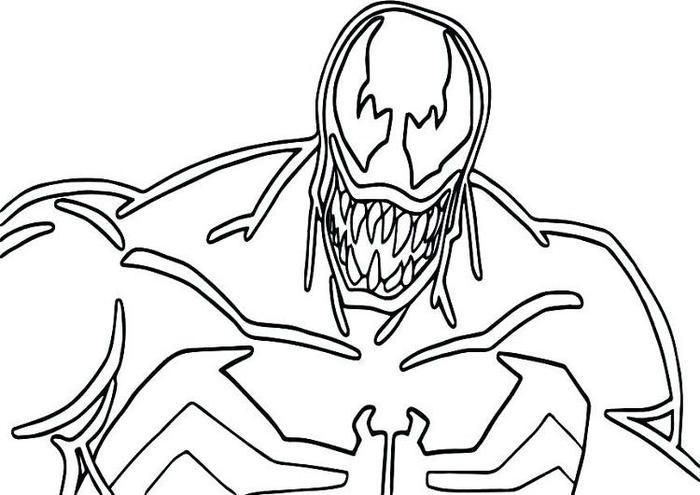 Venom And Carnage Coloring Pages Coloring Pages Preschool Coloring Pages Coloring Pages For Kids