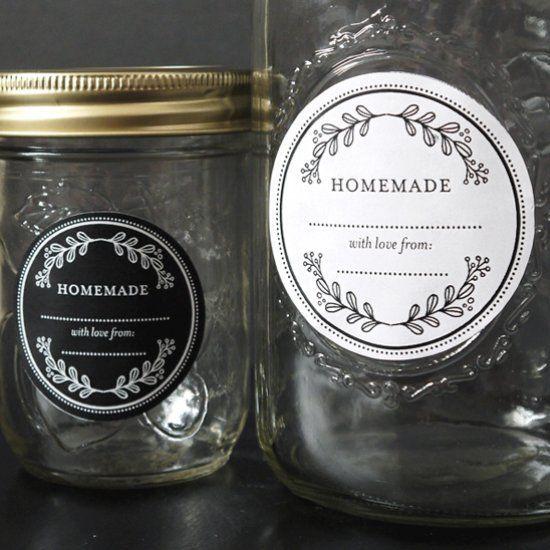 Floral Mason Jar Labels