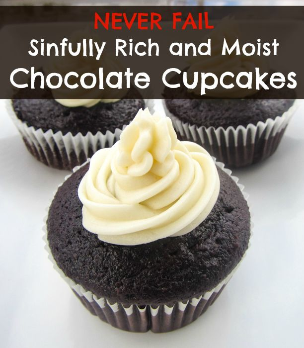This is the perfect never fail chocolate cupcake recipe. We make it in our house every time (yes EVERY time) we're craving chocolate cupcakes.