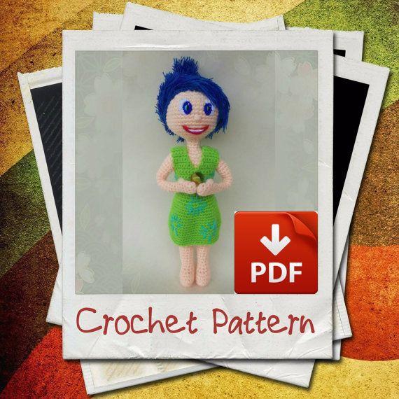 Joy Inside Out Amigurumi Doll Crochet Pattern by LorensDolls