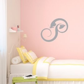 Vinyl Wall Art Butterfly Swirls