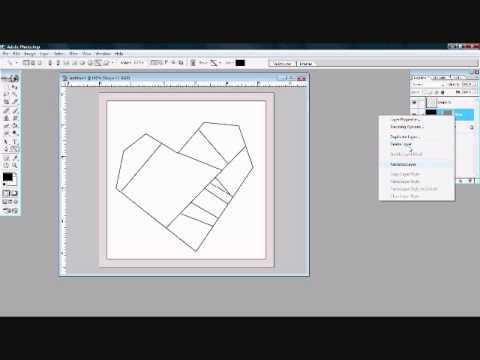 How To Draw Paper Pieced Patterns in Photoshop; 1 of 2