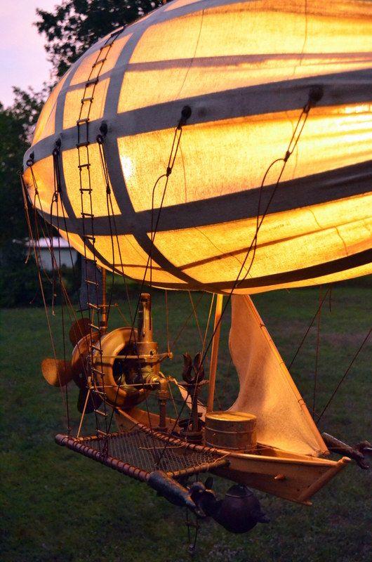 Steampunk airship model. #steampunk #steampunkart http://www.pinterest.com/TheHitman14/artwork-steampunked/