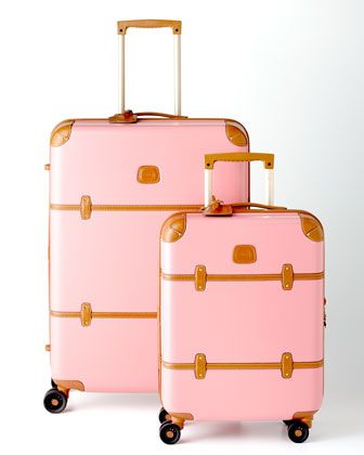 Bric's Bellagio Pink Luggage Collection - Neiman Marcus - I never go anywhere, yet I have a serious fettish for cute luggage