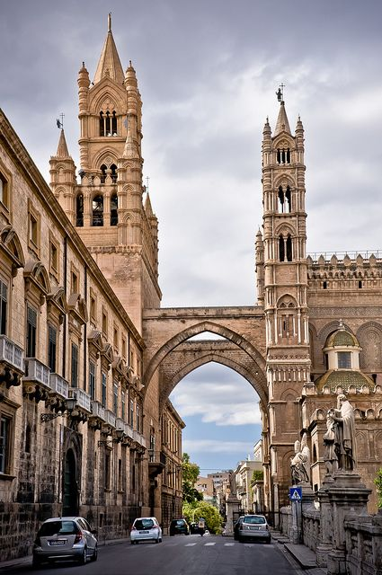 Palermo, Sicily.   Fascinating place - look at the Norman influence on this cathedral.