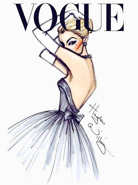 What a gorgeous illustration.  It's so simple yet elegant. This absolutely belongs on a modern cover of Vogue.
