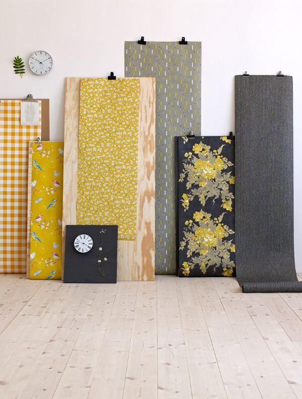 simple fabric/wallpaper display