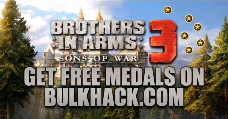LETS GO TO BROTHERS IN ARMS 3: SONS OF WAR GENERATOR SITE!  [NEW] BROTHERS IN ARMS 3: SONS OF WAR HACK ONLINE: www.generator.bulkhack.com You can add up to 9999 Medals each day for Free: www.generator.bulkhack.com Trust me! This method works 100% guaranteed: www.generator.bulkhack.com Please Share this online hack guys: www.generator.bulkhack.com  HOW TO USE: 1. Go to >>> www.generator.bulkhack.com and choose Brothers in Arms 3: Sons of War image (you will be redirect to Brothers in Arms 3…