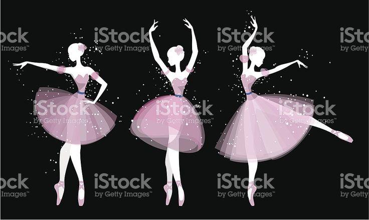 Ballet dancers silhouette royalty-free stock vector art