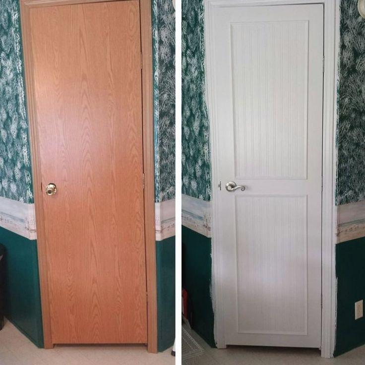 Mobile Homedecorating:  Mobile Home Interior Door Makeover # Homedecor # Home