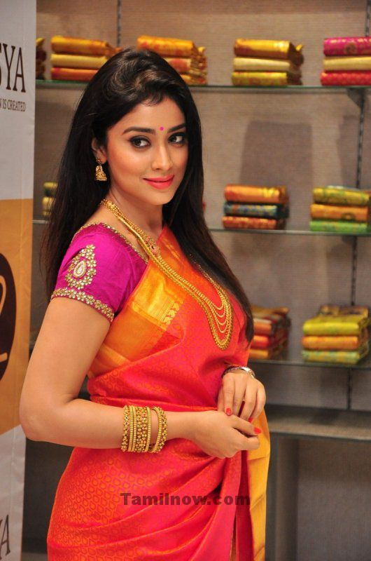 Actress Shriya Saran At Grand Inauguration Of Zasya. Shriya Saran New Stills in Saree.