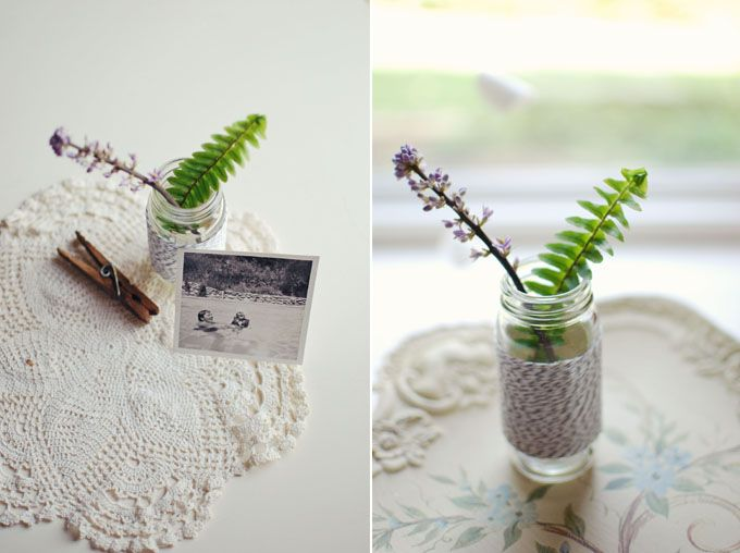 Divine Twine Glass Jars DIY // Lauren Elise Crafted
