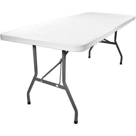 Advantage 6 Ft White Plastic Folding Tables 10 Pack Folding Table Table Dining Table Chairs