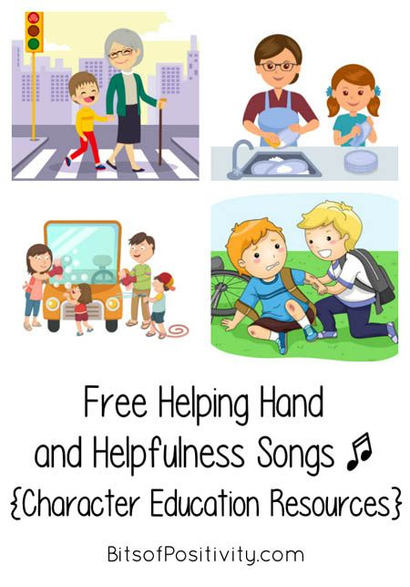Free helping hand and helpfulness songs.