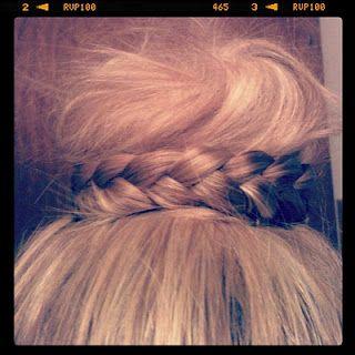 Messy bun braid