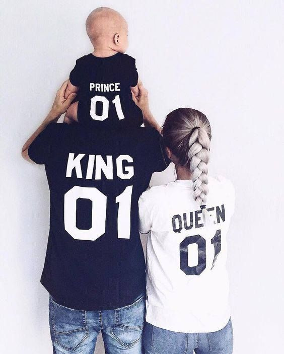 a898d7e2de047 Mom Dad and Son Family T-Shirts. Custom King, Queen, Prince T-Shirt ...