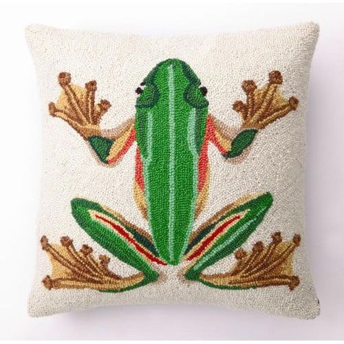 Green Frog Pillow from PoshTots