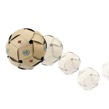 Packaging that becomes a ball, a soccer ball, a baseball...Really great.: Packaging Projects, Development Country, Soccer Ball, Dreamball By Unplugged Design, Aid Packaging, Design Packaging, Design Studios, Seoul Design, Packaging Products