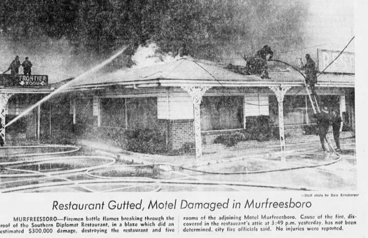 The Southern Diplomat Restaurant, formerly Al Sullivan's, was once located at the Murfreesboro Motel. 24 Mar 1974 Tennessean Newspaper