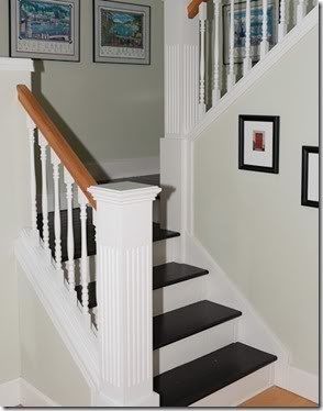 Awesome Painted Stair Treads.. A Little Too Stark?
