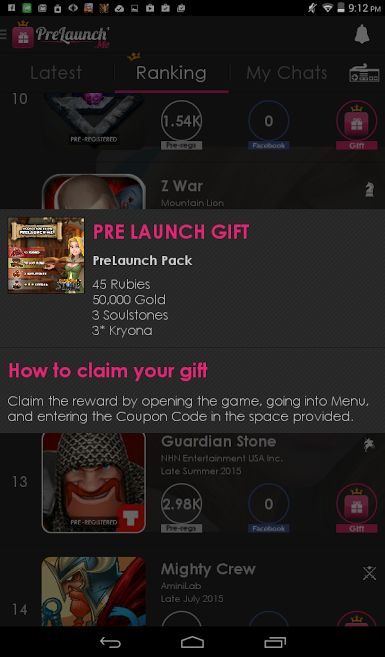 Download Prelaunch.me to claim your free Gift!