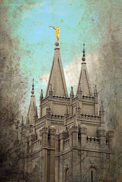 Salt Lake Temple and Texture