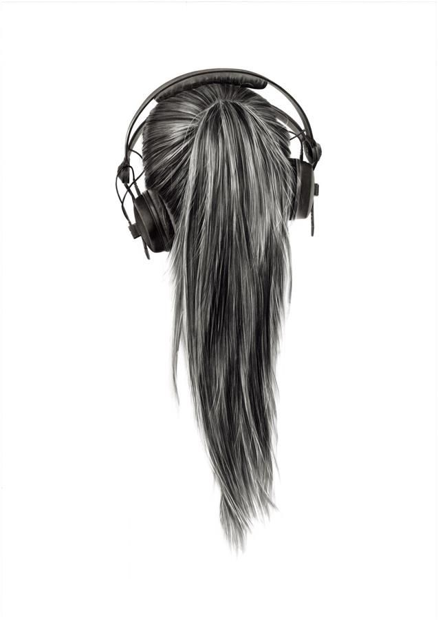 Drawing of hair, I don't know why but I just love it♡