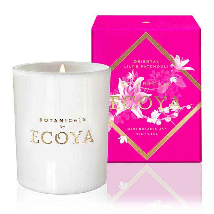 Ecoya - Botanicals Evolution Lily & Patchouli Mini Candle | Peter's of Kensington