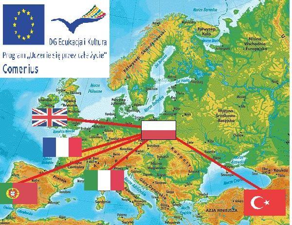 "Plakat promujący projekt ""Little Europeans Know Each Other"""