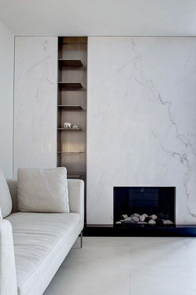 studio NYC, fireplace, marble