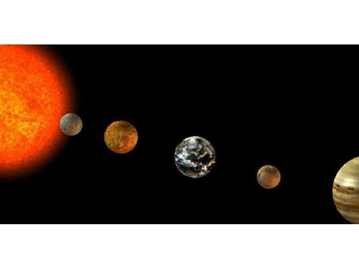 Cinco planetas alineados.  Los astrónomos recomiendan que el avistamiento de este espectáculo celeste se intente hacer en los últimos días de enero 2016.