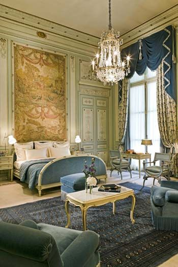Windsor Suite, Ritz Hotel, Paris - Wow, this really isn't my style but I could totally handle staying here for a while...months even, maybe.  ;)