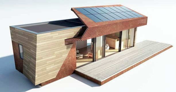 """722 square-foot modular home will be on display during Greenbuild 2012 in San Francisco, California and acts as a prototype for a new series of homes by Method Homes and New York-based Bogue Trondowski Architects. """"Features of the home include a super-insulated envelope, wooden cladding and decking, rooftop solar, a ductless mini-split HVAC system, HRV ventilation, bamboo floors and cabinets, LED lighting, home automation, rainwater harvesting, a greywater system & a composting toilet, etc."""""""