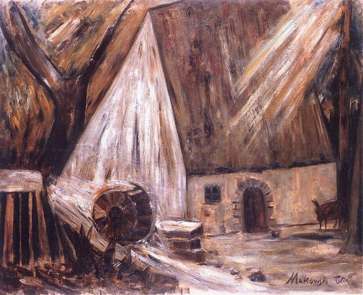 Młyn. Olej na płótnie z 1928 roku