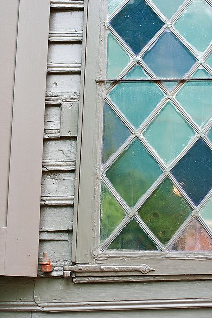 <3: Stainglass, Beautiful Window, Colors, Blue Green, Stained Glasses Window, Cottages Stained, Window Panes, House, Beaches Cottages