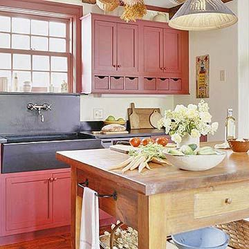 Red Country Kitchen Decorating Ideas 53 best red country kitchen images on pinterest | dream kitchens