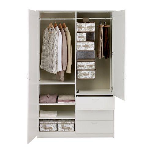 Ikea Flaxa Bed With Storage ~ MUSKEN Wardrobe with 2 doors+3 drawers IKEA Adjustable shelves make it